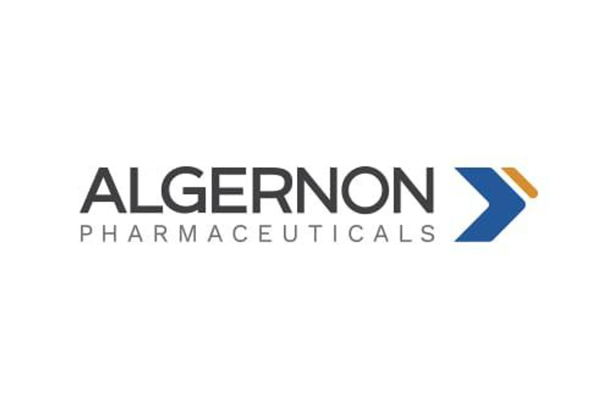 Algernon Pharmaceuticals Announces Receipt of Refundable Tax Credit from Australian Clinical Research