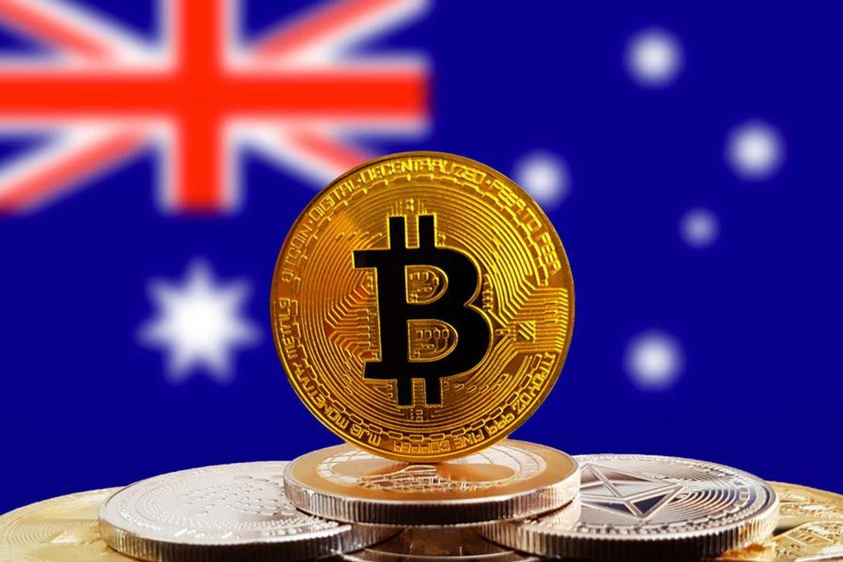 bitcoin with australian flag